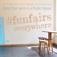 """Die """"This Ain't Art School' veröffentlicht regelmäßig neue Hashtag-Ausschreibungen. Aktuell werden Bilder für eine Ausstellung in Hamburg zum Thema #funfairs gesucht!"""
