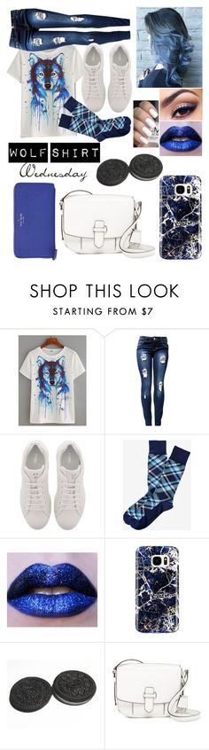 """Wolf Shirt Wednesday p.26"" by a-valen ❤ liked on Polyvore featuring WithChic, Fendi, Samsung, MICHAEL Michael Kors and Kate Spade"