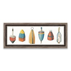 The A Rare Catch Framed Printed Canvas Wall Art adds a touch of a fisherman'slife into your home. Features a collection of unique fishing bobbers printed on canvas for added warmth and texture.