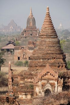 Bagan view from Tayok Pyie Pagoda, Myanmar. This looks cool, but I'd never want to find myself stuck in Myanmar.