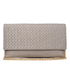 Look what I found on #zulily! Gray Woven Havana Clutch by Moda Luxe #zulilyfinds