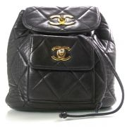 Fashionphile - CHANEL Vintage Lambskin Quilted Backpack Black