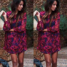 Sexy Women Ladies Chiffon Loose Long Sleeve Evening Cocktail Short Mini Dress | eBay
