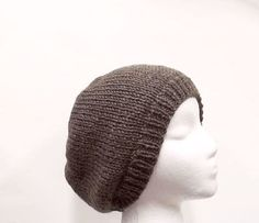 Brown beanie slouchy beanieknit hatskullcap  by CaboDesigns