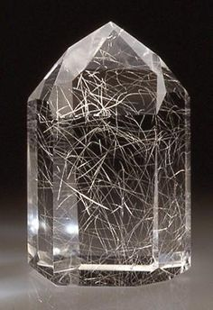 Quartz with incl. - Minas Gerais, Brazil, ...which resembles a fireworks display encased in crystal!