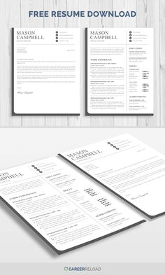 Free Templates For Letters Simple Free Word Resume Template Download  Free Resume Templates .