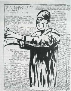 Raymond Pettibon - density of text