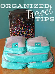 Tips for staying organized while traveling with packing cubes. Ideas you can use to pack your bags