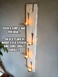 make it yourself tealight holder   Visit & Like our Facebook page! https://www.facebook.com/pages/Rustic-Farmhouse-Decor/636679889706127