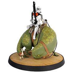 Star Wars: Sandtrooper on Dewback animated maquette statue