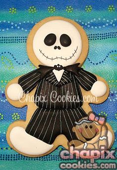The Nightmare Before Christmas Jack Skellington Cookie Cutter. Halloween Cookies Decorated, Halloween Sugar Cookies, Halloween Treats, Decorated Cookies, Halloween Clothes, Costume Halloween, Fall Cookies, Cute Cookies, Christmas Cookies