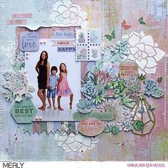 Layout created by @emmystammler for @merlyimpressions using the gorgeous Greenhouse Kaisercraft Collection. #merlyimpressions #kaisercraft…