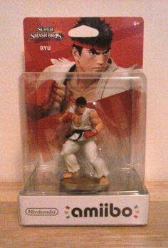Ryu is one of the most well known fighters in Street Fighter. But, now he's coming at you in Amiibo form as an interactive toy for the New Nintendo 3ds and the Wii U. The game this toy works best with, is Super Smash Brothers.