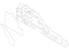 Slim House extension by Alma-nac Collaborative Architecture – less than 100 square meters Architecture Graphics, Space Architecture, Architecture Drawings, Narrow House Designs, Axonometric Drawing, London House, Detailed Drawings, House Extensions, Dezeen