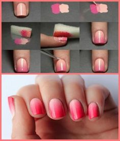 unhas degrade DIY
