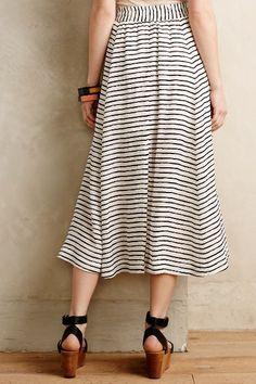 Au Revoir Silk Midi Skirt - anthropologie.com #anthrofave