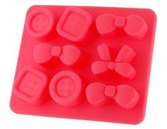 Amazon.com: Anna's Favorite Bowknot & Button Shaped Silicone Ice Tray (Red): Kitchen & Dining