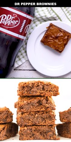 Dr Pepper Brownies - Spaceships and Laser Beams Keto Friendly Desserts, Low Carb Desserts, Easy Desserts, Delicious Desserts, Dessert Recipes, Pound Cake Recipes, Brownie Recipes, Brownie Ideas, Dr Pepper Brownies Recipe