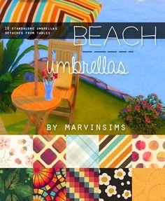 Beach Umbrellas at Marvin Sims • Sims 4 Updates