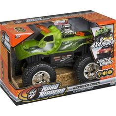 Road Rippers 10 inch Light and Sound 4x4 Monster Truck, DinoRoar, Multicolor
