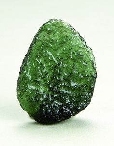 """ Moldavite""  is a tektite, and a stone of intense frequency and high vibration. In ancient times it was thought to be a mystical stone that could bring good luck and fulfillment of wishes. It is one of the best stones to use for psychic protection, as negative entities find it difficult to connect to your aura when you are wearing it."