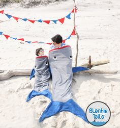 Father's Day AND Shark Week are just around the corner...can you think of a more JAWESOME gift to celebrate both than a Blankie Tails™ Shark Blanket?! #thesnuggleisreal