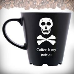 Personalized coffee mug - Coffee is my poison
