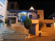 Tunisia, Sidi Bou Said at night ♥
