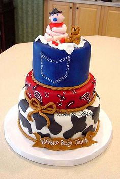 cowboy baby shower cake - Google Search