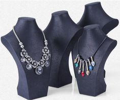 black leatherette necklace stands from Winnerpak. Different sizes with 4 USD/PC Average cost. News Design, Jewellery, Black, Fashion, Moda, Jewels, Black People, Fashion Styles, Schmuck