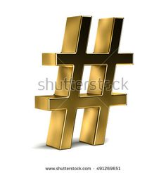 Number Symbol HashTag. 3D Render iIlustration Isolated in White Background