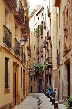 Barcelona, Spain.  I think it would be so cool to wander the streets here!
