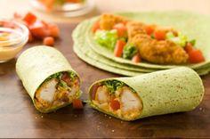 Buffalo Chicken Wraps      http://www.kraftcanada.com/en/recipes/buffalo-chicken-wraps-107637.aspx