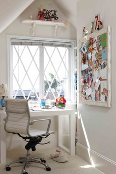 8 Eye-Opening Useful Tips: Attic Study Small attic apartment kids.Attic Diy Budget attic door tiny h Attic Renovation, Attic Remodel, Home Office Space, Office Spaces, Attic Office, Attic Loft, Work Spaces, Small Office, Attic Doors