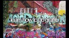And do graffiti too of course.