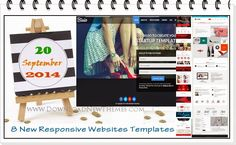 #webdesign 8 New #Responsive Websites Templates of 20th Sep #2014 ->>>