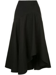 Shop Alexander McQueen asymmetric flared skirt