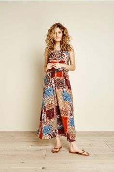 Patchwork Maxi Dress - Earthbound Trading Co