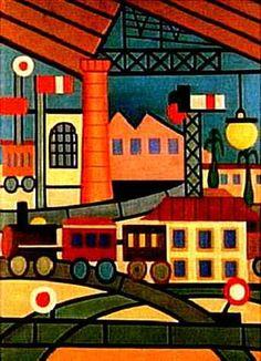 Obras de Tarcila do Amaral (Rede Ferroviária)