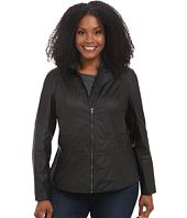DKNY Jeans  Plus Size Coated Moto Jacket