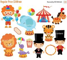 ON SALE INSTANT Download. Circus 19. Personal and by clipartland