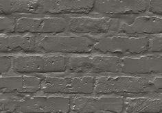 Dark Brickwall - Beton, Sten & Træ - Tapetkunst.dk