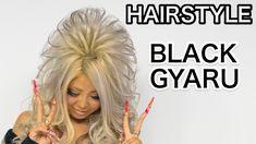 Kuro Gyaru HAIRSTYLE TUTORIAL by Kawaii fashion model HARUTAM | Black Di...