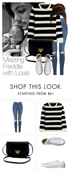 """""""REQUESTED: Meeting Freddie with Louis"""" by style-with-one-direction ❤ liked on Polyvore featuring Topshop, The Kooples, Converse, OneDirection, 1d, louistomlinson and louis tomlinson one direction 1d"""
