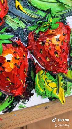 Original Fine Palette Knife Art Oil Paintings by Lisa Elley. Sketch Painting, Diy Painting, Painting Tutorials, Food Cart Design, Natural Form Art, Heart Painting, Knife Art, Palette Knife Painting, Happy Paintings