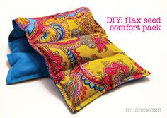 Flax seed heating pad, add essential oils or a bag of your favorite tea for a soothing scent.