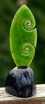 new life (koru) jade carving