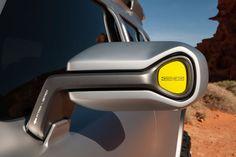 Mercedes-Benz-Ener--G--Force-Concept-design  Element: 45 degree tapers, industrial details, gray/black/color scheme.