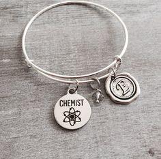 Chemist Bracelet Chemistry Bracelet Chemistry student by SAjolie