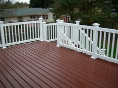 Dark Deck White Railing Painted Decks Makeover